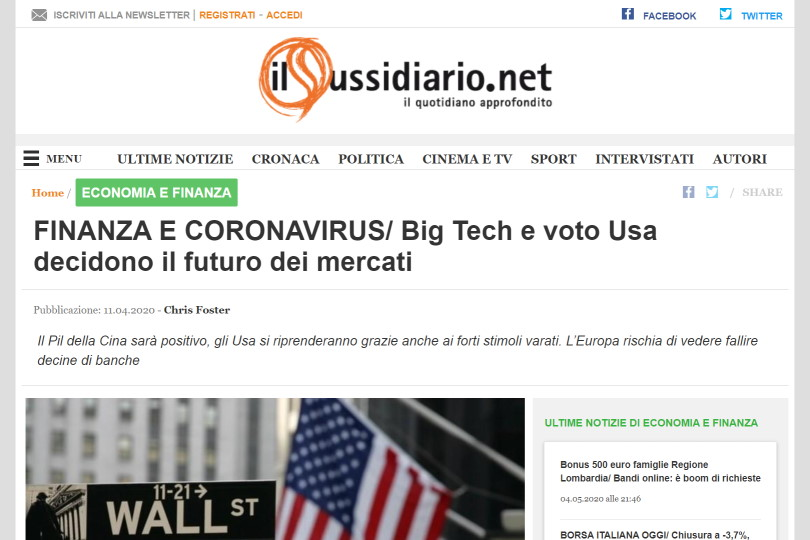 FINANZA E CORONAVIRUS/ Big Tech e voto Usa decidono il futuro dei mercati