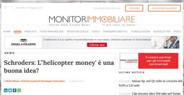 """Schroders: L'""""helicopter money"""" è una buona idea?"""