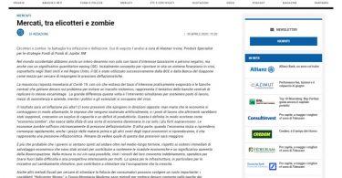 Mercati, tra elicotteri e zombie