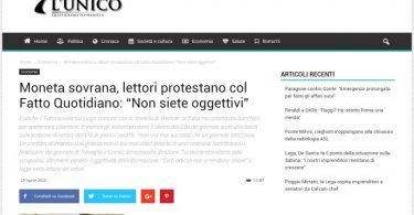 """Moneta sovrana, lettori protestano col Fatto Quotidiano: """"Non siete oggettivi"""""""