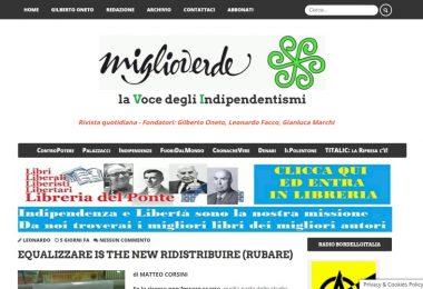 Equalizzare is the new Ridistribuire (rubare)