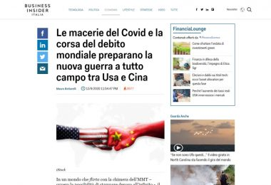 Le macerie del Covid e la corsa del debito mondiale preparano la nuova guerra a tutto campo tra Usa e Cina