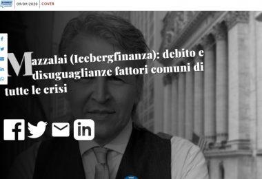 Mazzalai (Icebergfinanza): debito e disuguaglianze fattori comuni di tutte le crisi