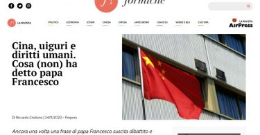 Cina, uiguri e diritti umani. Cosa (non) ha detto papa Francesco