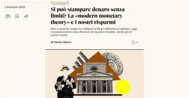 Si può stampare denaro senza limiti? La «modern monetary theory» e i nostri risparmi