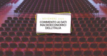 Commento ai dati macroeconomici dell'Italia – Novembre 2020
