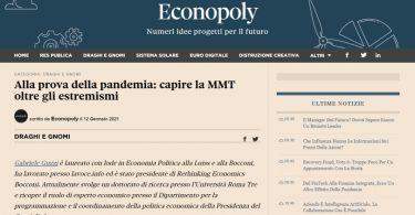 Alla prova della pandemia: capire la MMT oltre gli estremismi