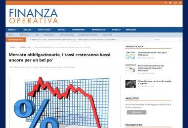 Mercato obbligazionario, i tassi resteranno bassi ancora per un bel po'