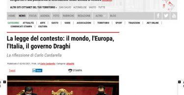 La legge del contesto: il mondo, l'Europa, l'Italia, il governo Draghi