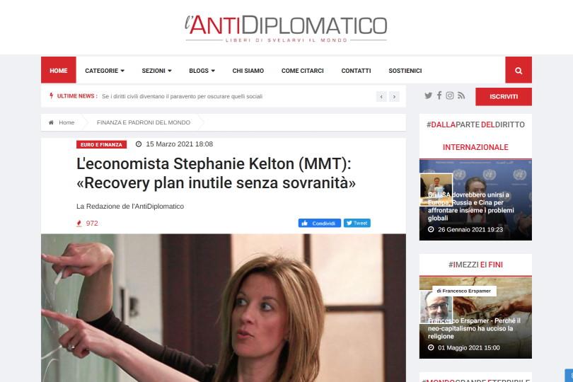 L'economista Stephanie Kelton (MMT): «Recovery plan inutile senza sovranità»