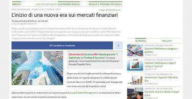 L'inizio di una nuova era sui mercati finanziari