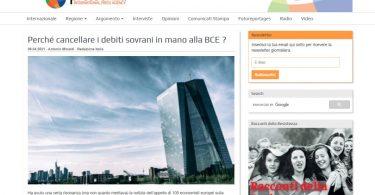 Perché cancellare i debiti sovrani in mano alla BCE?