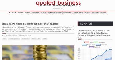 Italia, nuovo record del debito pubblico: 2.687 miliardi
