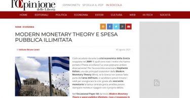 Modern Monetary Theory e spesa pubblica illimitata